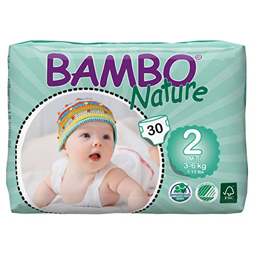 Bambo Nature Eco Friendly Baby Diapers Classic for Sensitive Skin,...