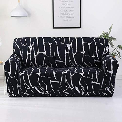 Funda de sofá gris Fundas para muebles elásticas Fundas de sofá elásticas para sala de estar Funda de asiento con funda deslizante funda de asiento de spandex sofá 1-4 plazas, color 8,4-plazas (235-3