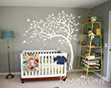 White Tree Wall Decal Nursery Wall Sticker Kids Room Wall Art KW032