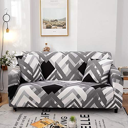 WXQY Funda de sofá de celosía Funda de sofá elástica con Todo Incluido, Utilizada para la Funda de Muebles de Sala, Funda de sofá, Toalla de sofá A20 de 4 plazas