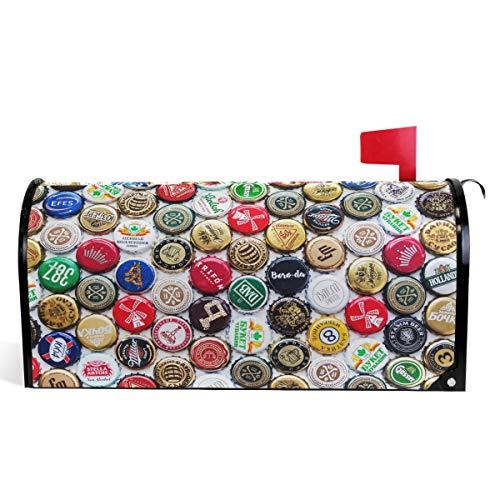 Oarencol Tapas para botellas de cerveza, buzón, portabicicletas magnéticas, tamaño grande, para...