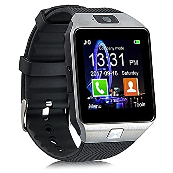 Padgene DZ09 Bluetooth Smartwatch,Touchscreen Wrist Smart Phone Watch Sports Fitness Tracker with SIM SD Card Slot Camera Pedometer Compatible with Android Smartphone for Kids Men Women