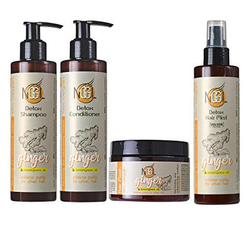 NGGL - Premium Hair Spa Produits de soin détoxifiants et purifiants vegan, enrichis en huile de citron et extrait de gingembre 100 % naturels