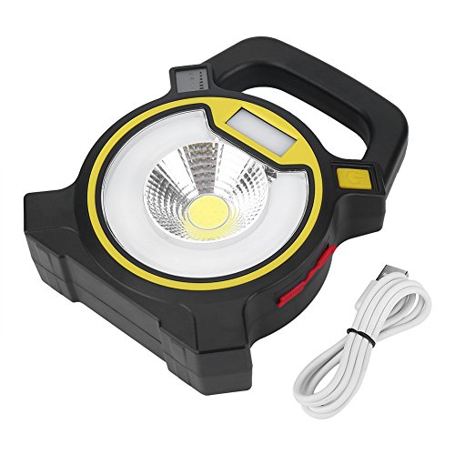 Wilecolly Lámpara portátil USB, Lámpara de Trabajo de jardín al Aire Libre de luz de inundación portátil COB LED Recargable por USB(Amarillo)