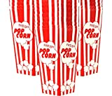 15 Popcorn Boxes 7.75 Inches Tall & Holds 46 Oz. Old Fashion Vintage Retro Design Red & White Colored Nostalgic Carnival Stripes like Popcorn Bags & Popcorn Tubs [other quantities available] Salbree