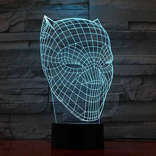 jiushixw 3D acryl nachtlampje met afstandsbediening van kleur veranderende lamp luipaard helder kinderkamer slaapkamer crème tafellamp