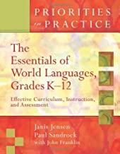 من الأساسيات في العالم اللغات k-12: فعالة curriculum ، تعليمات ، assessment (أولويات الواقع)