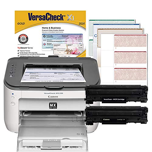 VersaCheck Canon M15 MX MICR Laser Check Printer and VersaCheck Gold Check Printing Software Bundle, White (M15MX)