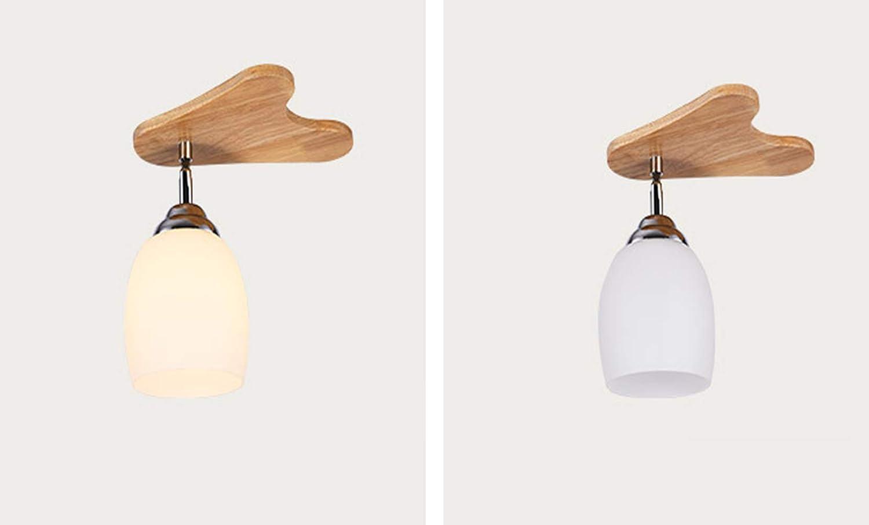 WT-XIDING Nordic Massivholz Geweih Kinderzimmer Deckenleuchte Persnlichkeit Kreative Wohnzimmer Zimmer Licht Flur Lampe Einfache Restaurant Lichter(E27),22  18  18CM