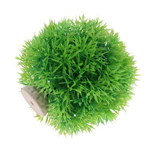 Sharplace 2pcs Ornement d'Aquarium Plante Aquatique Artificielle Forme en Boule en Plastique Décoration - Vert, Petit
