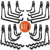 AojSup 12 piezas Gancho para Colgador de Garaje Dobles Ganchos de Almacenamiento de Garaje Gancho de Bicicleta de Pared...