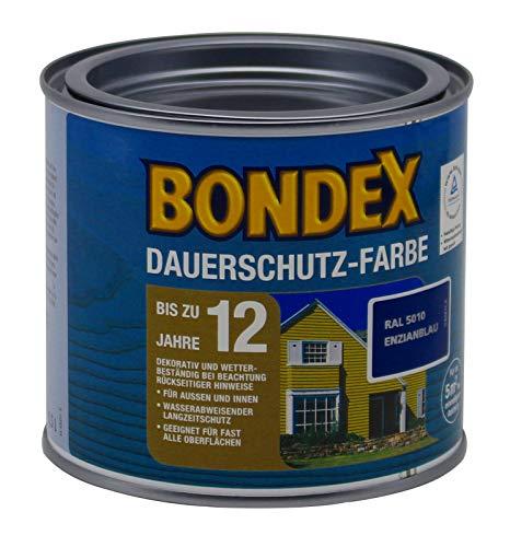 Bondex Dauerschutz Farbe, 0,5 Liter in Enzianblau