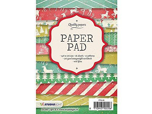 Sescha Designpapier/Motivblock, A6 / 105 x 148 mm, Weihnachten Motiv: 96/170 g/m² / 36 Blatt mit 12 Motiven