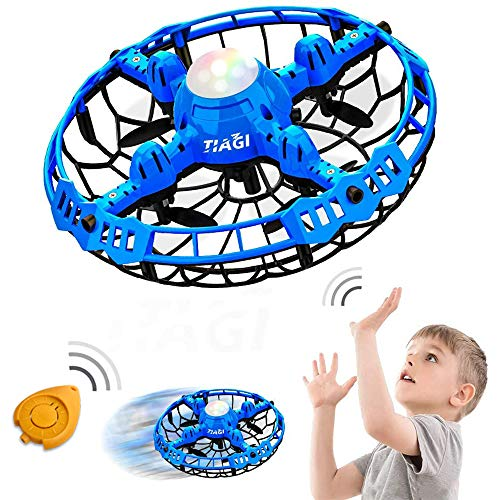 Tiagi Mini Hand Drones For Kids Hand Operated UFO Scoot Indoor Drones For Age 8-12 Christmas Toys For Boys and Girls