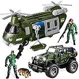 JOYIN Military Vehicles Toy Set of Friction...