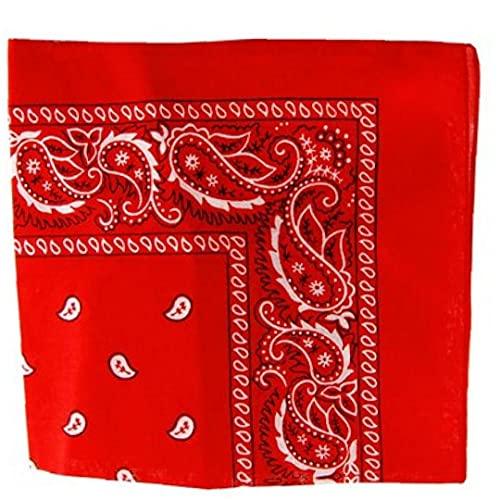 Zonster Rojo Pañuelo De Paisley