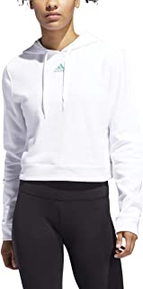 adidas Women's 3-Stripes Cropped Hoodie