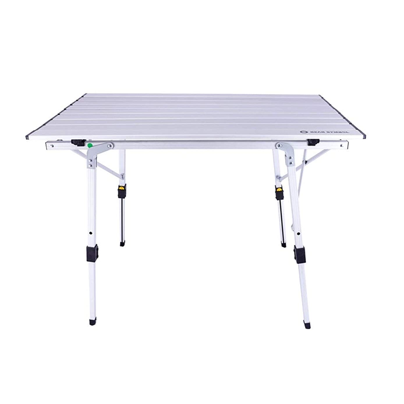 Folding Picnic Table Portable Lightweight Sturdy Durable Outdoor Indoor Camping BBQ Garden Terrace Party Self-Driving Beach Yard Family 2 Colors Optional (Color : Silver)