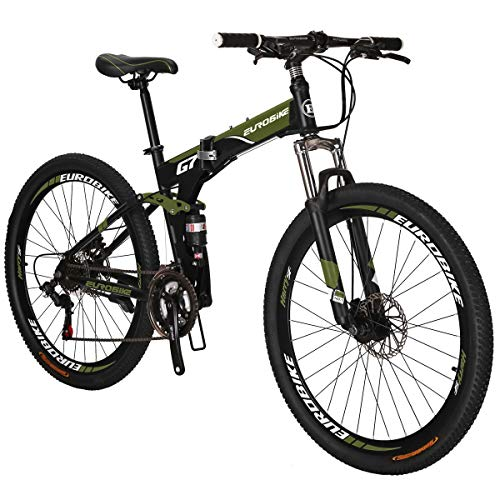 Eurobike MTB SL-G7 Bicycle 27.5-Inch Spoke Wheels Folding Bike Spoke Wheel (Green)