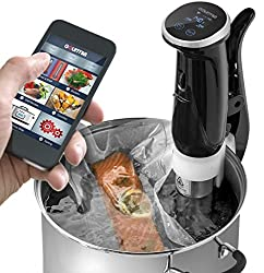 gourmia gsv150 wifi sous vide cooker immersion pod