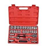 Juego de 46 llaves de carraca para reparación de coches, kit de herramientas mixtas portátil, para bicicletas, coches, motocicletas