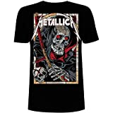Metallica Herren Death Reaper_Men_bl_ts: L T-Shirt, Schwarz (Black Black), Large