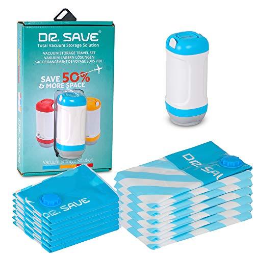 Dr. Save Bolsas de almacenamiento al vacío de mano con sellador: empaca...