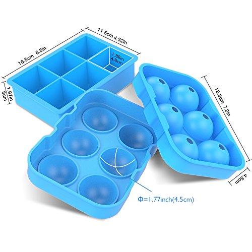 BESTOPE『シリコンまる氷アイストレー6個大ボール製氷器』