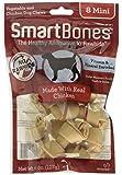 SmartBones SBC-00200 Chicken Dog Chew, Mini, 8 pieces/pack