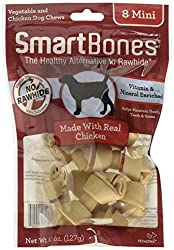 Rawhide free, highly digestible, low fat, 100% delicious Made with wholesome vegetables & real chicken, vitamin and mineral enriched. Vitamin & Mineral Enriched Low Fat