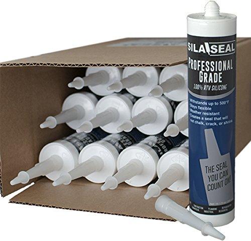 SILA-SEAL Aluminum Professional Grade (Silver) 100% RTV Silicone with reclosable Nozzle, (case of 12)