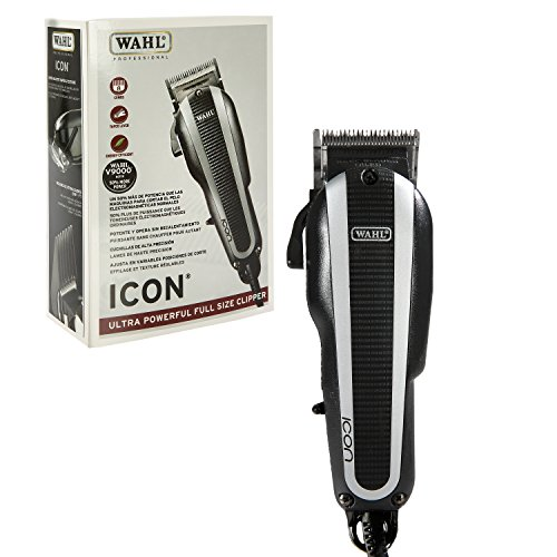 Wahl Professional Icon Clipper #8490-900 – Ultra Powerful Full Size Clipper – Great for Barbers and Stylists – Features Cool Running v9000 Motor