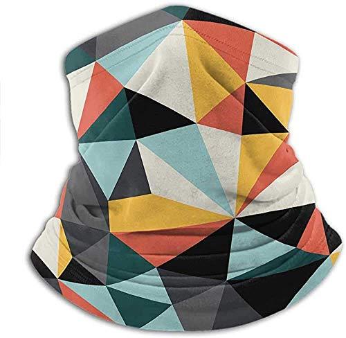 Lawenp Máscara de bufanda para la cara Mujeres Resumen Clima frío Cubierta facial Arte cubista con varias formas geométricas multicolores que forman una obra unificada Multicolor