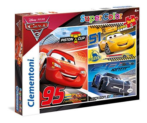 Clementoni- Cars 3 Puzzle 3x48 Piezas, Miscelanea (25221)