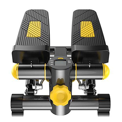 TIANYUWYM Mini Stepper,Up-Down-Stepper, Swing Side Stepper Trainingscomputer mit vielen Funktionen, praktischer Arm- und Beintrainer mit LCD-Display, Fitness für Zuhause Einsteiger