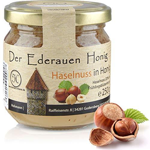 Deutscher Honig 3 Set - Honig mit Haselnuss. Honiggläser mit jeweils 250gr Nuss Honig - 3 x 250gr.