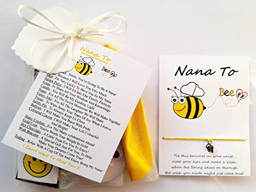 Nana to Be Survival Gift Kit from The Baby Bump with A Lovely Keepsake Baby Feet Charm Wish Bracelet Included A Great Gift to Congratulate The New Nana to Be