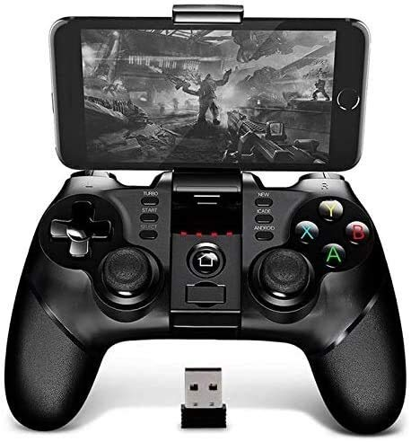 Yppss Gamepad Bluetooth Gamepad Gamepad Controller Mobil Trigger Joystick Geeignet for Android Smartphone PC Farbe Schwarz Eternal Color Black