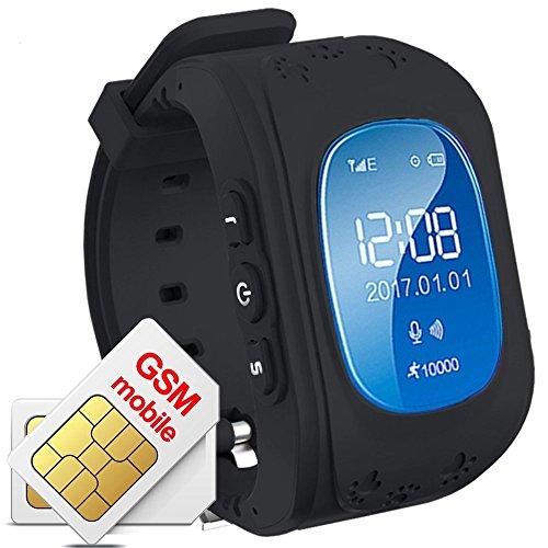 Hangang - Reloj de rastreador GPS para niños, Resistente al Agua, Reloj Inteligente, antirroaming, Llamadas SOS, buscador de niños, Seguimiento en Tiempo Real, Compatible con Smartphones