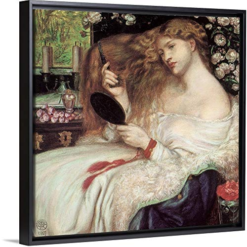 Lady Lilith Black Floating Frame Canvas Art, 14'x14'x1.75'