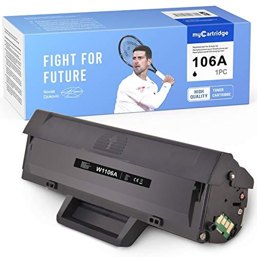 MyCartridge compatibile HP W1106A 106A [con chip] Toner per HP Laser MFP 135a 135w 135r 137fnw HP Laser 107a 107w 107r (nero)