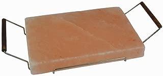Plancha Piedra Parrilla Sal ROSA NATURAL De HIMALAYA CON SOPORTE 20×30CM Para cocinar