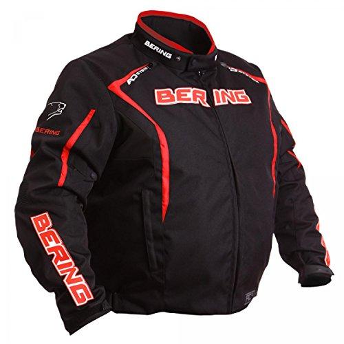 Bering Brakos KingSize Übergrößen-Motorradjacke schwarz-rot Größe WXL