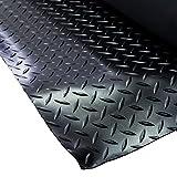 VARGORT suelo caucho, estribera caucho antideslizante para usos generales e industriales 1 Mts (Anch) x 5 Mts(Larg) x espesor 3mm