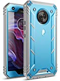 Moto X4 Rugged Case, Poetic Revolution [360 Degree Protection] Full-Body Rugged Heavy Duty Case with Built-in-Screen Protector for Motorola Moto X4 Blue