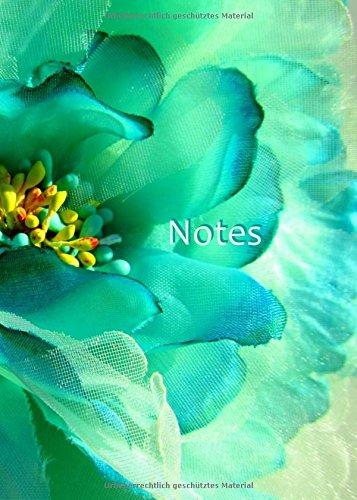 Notizbuch, DIN A4, liniert - Flower Power: Tagebuch