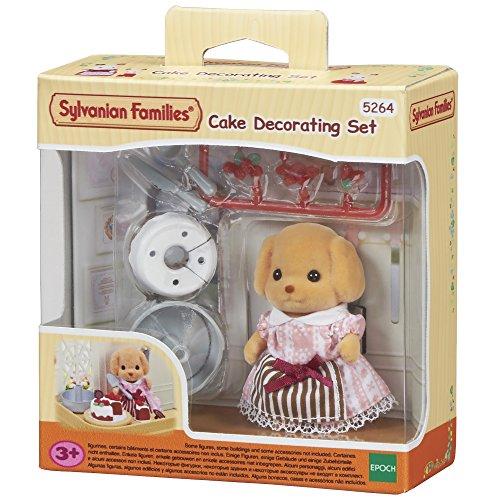 SYLVANIAN FAMILIES- Cake Decorating Set Mini muñecas y Accesorios, (Epoch para Imaginar 5264)