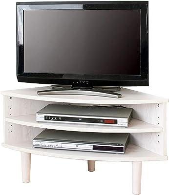 【22-32型推奨】 アイリスプラザ テレビ台 32型 コーナー テレビボード 収納 幅81.5cm 白 ホワイト Ardi IR-TV006