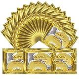 24k Gel de oro colágeno mascarilla para ojos, antiedad, ácido hialurónico, parches para los ojos...
