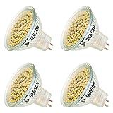 SEBSON LED Lampe GU5.3 / MR16 warmweiß 3.5W, ersetzt 35W Glühlampe, 280 Lumen, 12V DC, Leuchtmittel 110°, 4er Pack